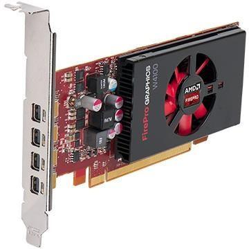 Karta graficzna AMD FirePro W4100 2GB (4x mDP) (4 adaptery mDP-DP)