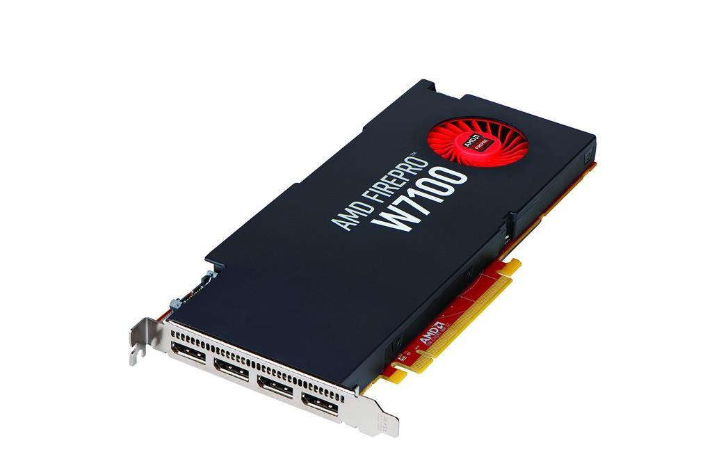 AMD FirePro W7100 8GB (4 zlacza DP) (3 adaptery DP do SL-DVI)